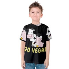 Friends Not Food   Cute Cow, Pig And Chicken Kids  Cotton Tee