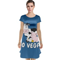 Friends Not Food   Cute Cow, Pig And Chicken Cap Sleeve Nightdress