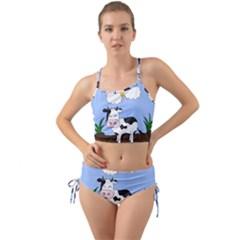 Friends Not Food   Cute Cow Mini Tank Bikini Set