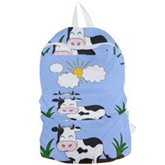 Friends Not Food   Cute Cow Foldable Lightweight Backpack