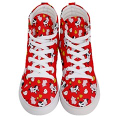 The Farm Pattern Women s Hi Top Skate Sneakers