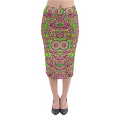 Love The Wood Garden Of Apples Midi Pencil Skirt