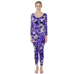Mistic Leaves Long Sleeve Catsuit