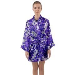 Mistic Leaves Long Sleeve Kimono Robe