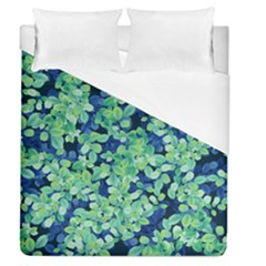 Moonlight On The Leaves Duvet Cover (queen Size)