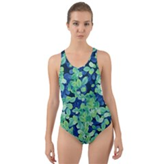 Moonlight On The Leaves Cut Out Back One Piece Swimsuit