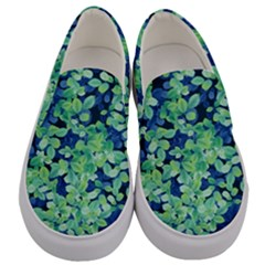 Moonlight On The Leaves Men s Canvas Slip Ons