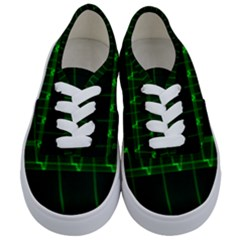 Background Signal Light Glow Green Kids  Classic Low Top Sneakers