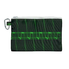 Background Signal Light Glow Green Canvas Cosmetic Bag (large)