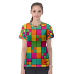 Abstract Background Abstract Women s Sport Mesh Tee