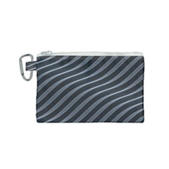 Metal Steel Stripped Creative Canvas Cosmetic Bag (small)