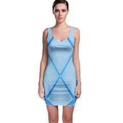 Background Light Glow Blue Bodycon Dress