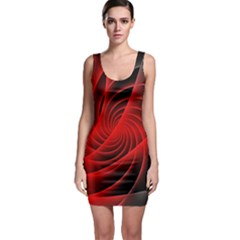 Red Abstract Art Background Digital Bodycon Dress
