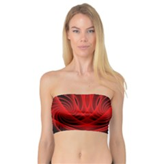 Red Abstract Art Background Digital Bandeau Top