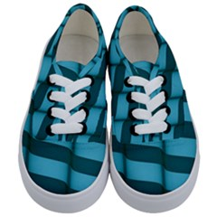 Curtain Stripped Blue Creative Kids  Classic Low Top Sneakers