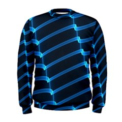 Background Neon Light Glow Blue Men s Sweatshirt