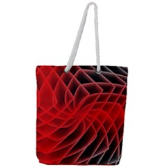 Abstract Red Art Background Digital Full Print Rope Handle Tote (large)