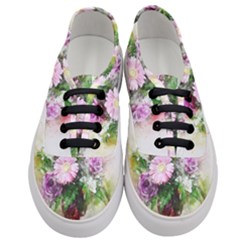 Flowers Roses Bouquet Art Nature Women s Classic Low Top Sneakers