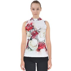 Flowers Roses Bouquet Art Nature Shell Top