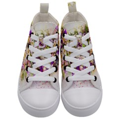 Flowers Bouquet Art Nature Kid s Mid Top Canvas Sneakers