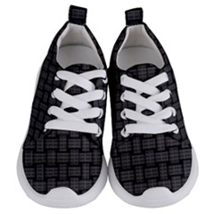 Background Weaving Black Metal Kids  Lightweight Sports Shoes