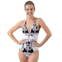 St  Patricks Day  Halter Cut Out One Piece Swimsuit