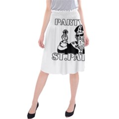 St  Patricks Day  Midi Beach Skirt