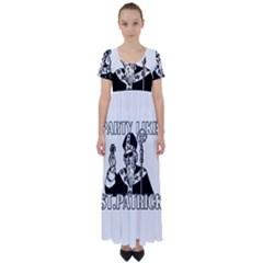 St  Patricks Day  High Waist Short Sleeve Maxi Dress