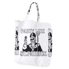 St  Patricks Day  Giant Grocery Zipper Tote