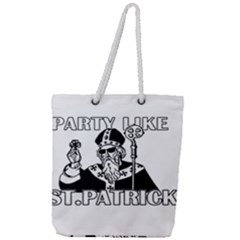 St  Patricks Day  Full Print Rope Handle Tote (large)