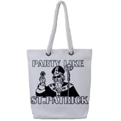 St  Patricks Day  Full Print Rope Handle Tote (small)