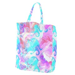 Background Art Abstract Watercolor Pattern Giant Grocery Zipper Tote