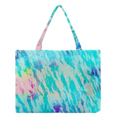 Blue Background Art Abstract Watercolor Medium Tote Bag