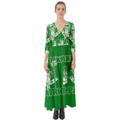 St  Patricks Day  Button Up Boho Maxi Dress