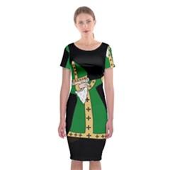 St  Patrick  Dabbing Classic Short Sleeve Midi Dress