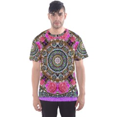 Roses In A Color Cascade Of Freedom And Peace Men s Sports Mesh Tee