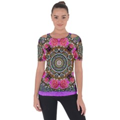 Roses In A Color Cascade Of Freedom And Peace Short Sleeve Top