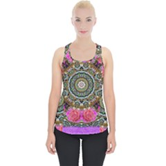 Roses In A Color Cascade Of Freedom And Peace Piece Up Tank Top