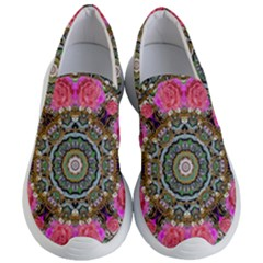 Roses In A Color Cascade Of Freedom And Peace Women s Lightweight Slip Ons