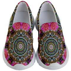 Roses In A Color Cascade Of Freedom And Peace Kid s Lightweight Slip Ons