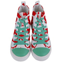 Malaysia Unmo Logo Women s Mid Top Canvas Sneakers