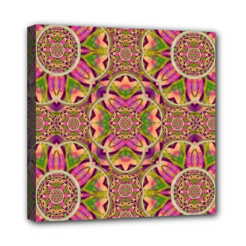 Jungle Flowers In Paradise  Lovely Chic Colors Mini Canvas 8  X 8