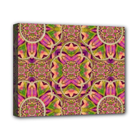 Jungle Flowers In Paradise  Lovely Chic Colors Canvas 10  X 8