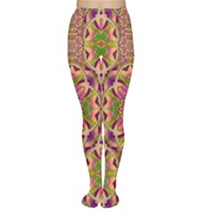 Jungle Flowers In Paradise  Lovely Chic Colors Women s Tights