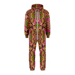Jungle Flowers In Paradise  Lovely Chic Colors Hooded Jumpsuit (kids)