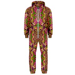 Jungle Flowers In Paradise  Lovely Chic Colors Hooded Jumpsuit (men)