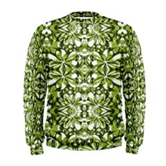 Stylized Nature Print Pattern Men s Sweatshirt