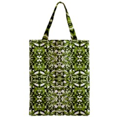 Stylized Nature Print Pattern Zipper Classic Tote Bag