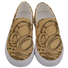 Vip Sketch Music Men s Canvas Slip Ons