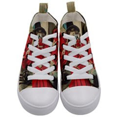 Haloweencard3 Kid s Mid Top Canvas Sneakers